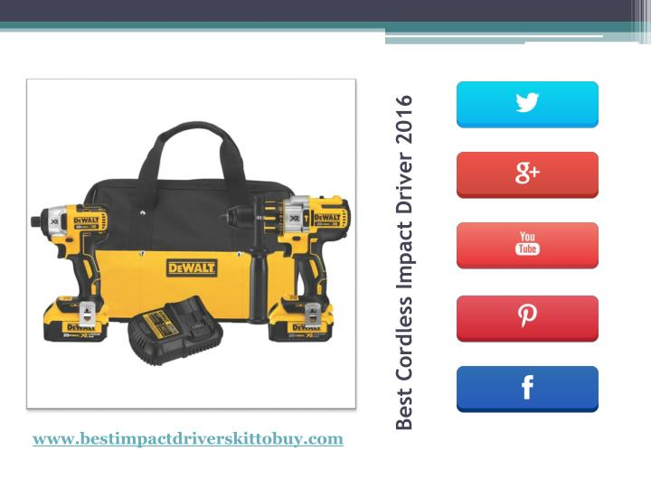 Ppt Cordless Drill Vs Impact Driver Powerpoint