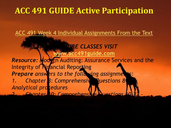 acc 491 week 2 comprehensive question View test prep - week 2 quizdocx from acc 491 acc491 at university of  phoenix your answers : 17/17 (100%) 1 submitted on aug 27,.