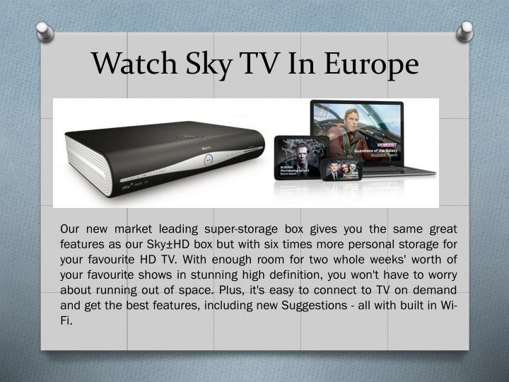 how to watch sky tv in canada