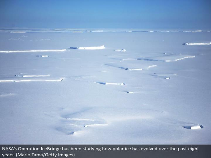 NASA's Operation IceBridge has been concentrate how polar ice has developed in the course of recent years. (Mario Tama/Getty Images)