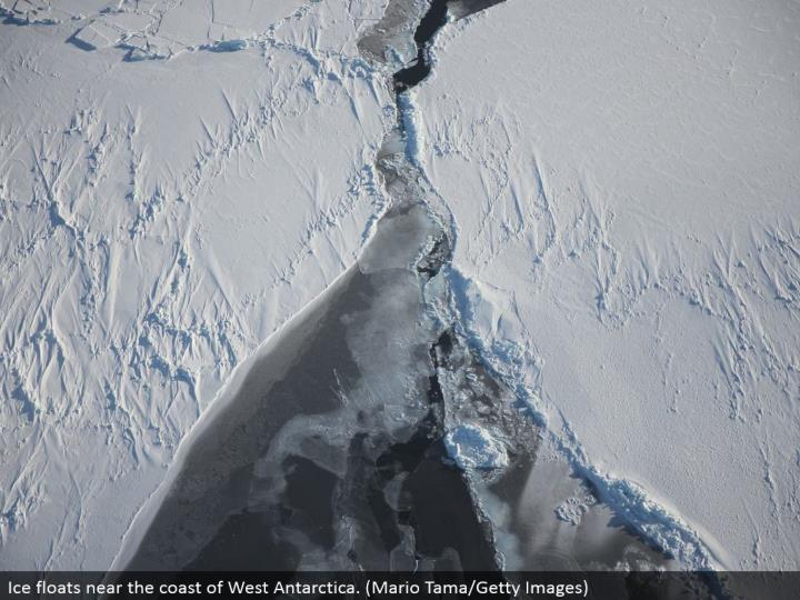 Ice drifts close to the shoreline of West Antarctica. (Mario Tama/Getty Images)