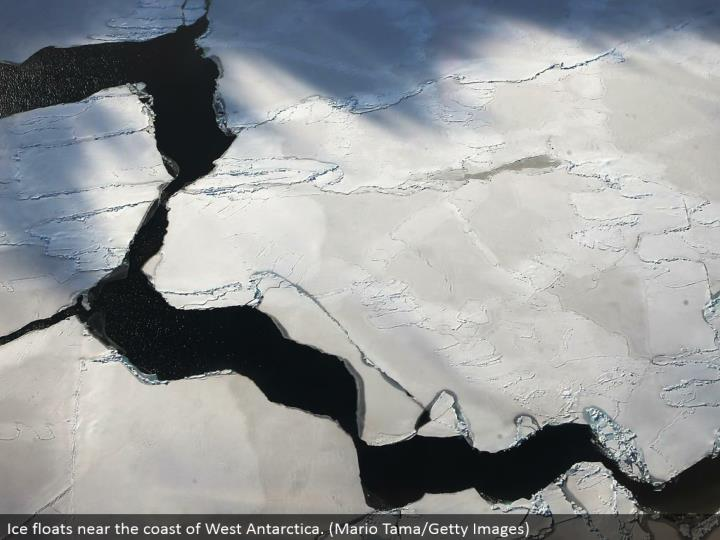 Ice drifts close to the bank of West Antarctica. (Mario Tama/Getty Images)