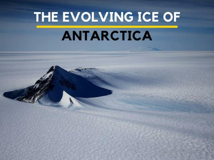 The developing ice of antarctica