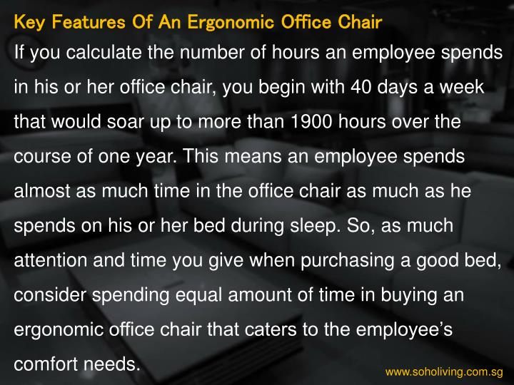 Key Features Of An Ergonomic Office Chair