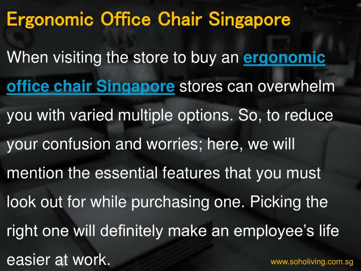 Ergonomic Office Chair Singapore
