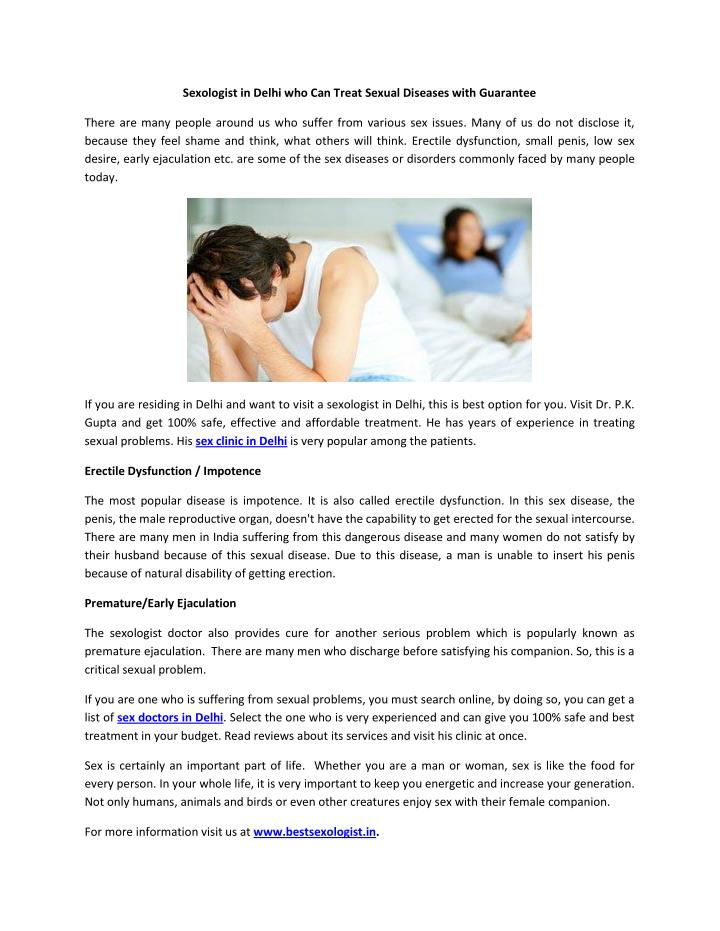 Treatment for sexual dysfunction