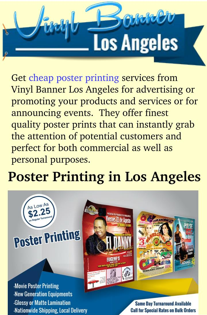 Ppt cheap poster print in los angeles powerpoint for Cheap prints and posters
