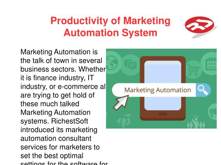 Productivity of Marketing
