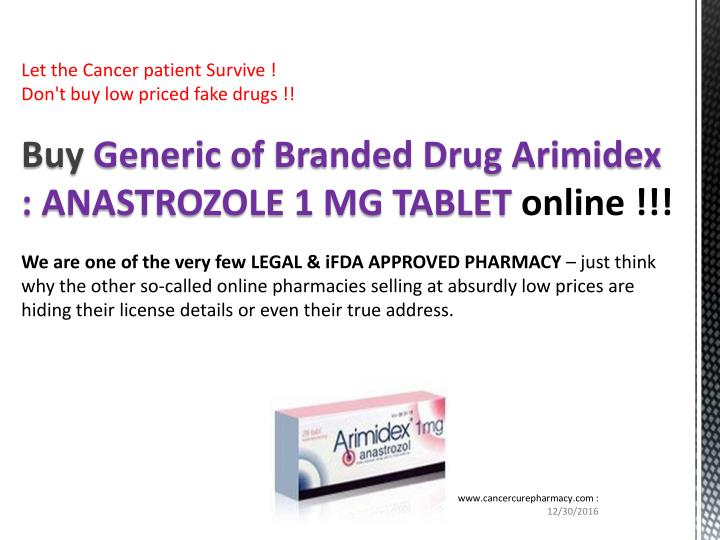 ppt buy anastrozole 1 mg tablet us 0 87 powerpoint