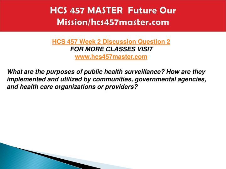 hcs 457 public community health complete