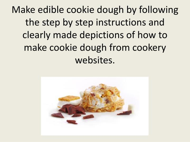how to make basic edible cookie dough