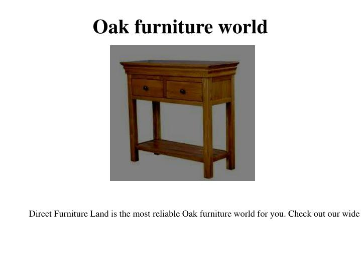 Oak furniture world