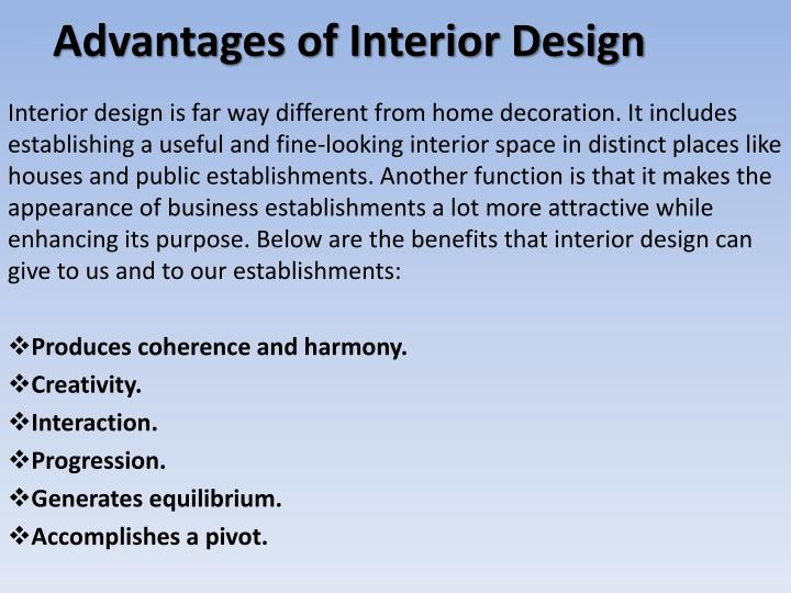 Advantages of Interior Design