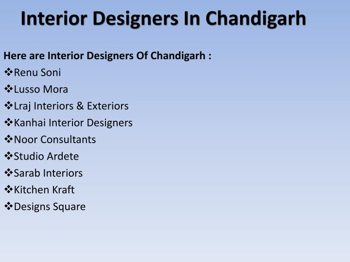 Interior Designers In Chandigarh