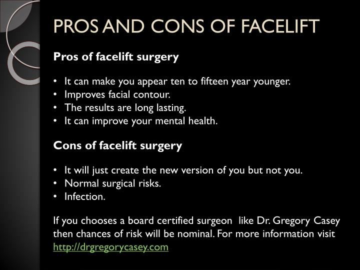 plastic surgery pros and cons debate Teens are increasingly undergoing cosmetic surgery pros and cons of cosmetic surgery on parents to keep in mind that plastic surgery is real.