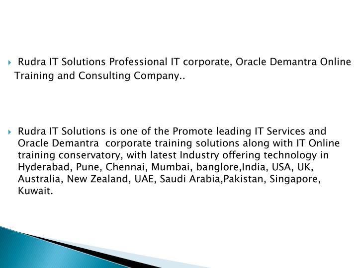 PPT - Oracle Demantra Online Training course in hyderabad ...