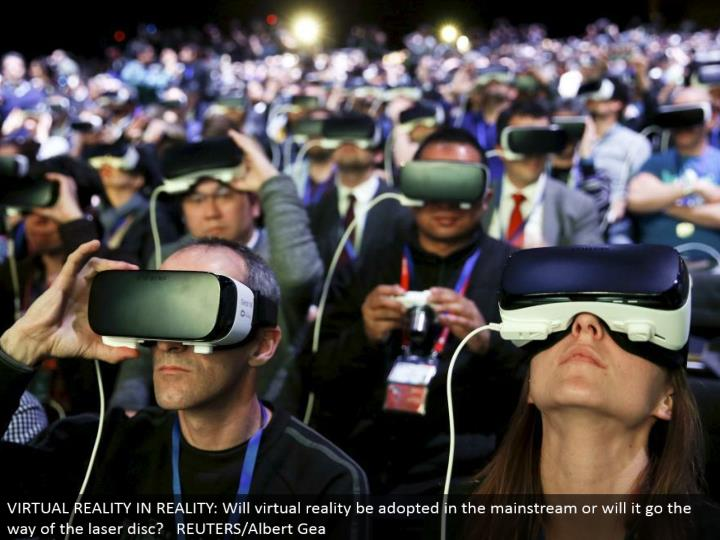 VIRTUAL REALITY IN REALITY: Will virtual the truth be received in the standard or will it go the method for the laser plate? REUTERS/Albert Gea