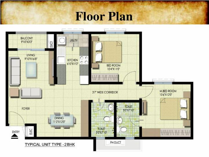 Ppt residential apartments in bangalore powerpoint for Floor plans presentation