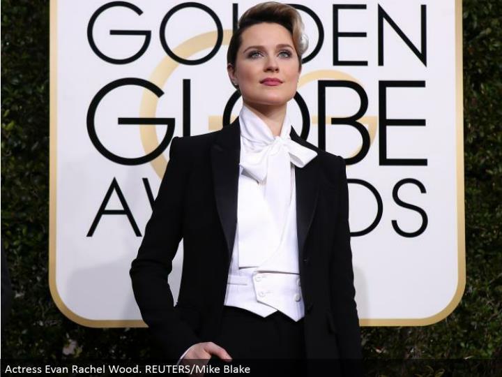 Actress Evan Rachel Wood. REUTERS/Mike Blake