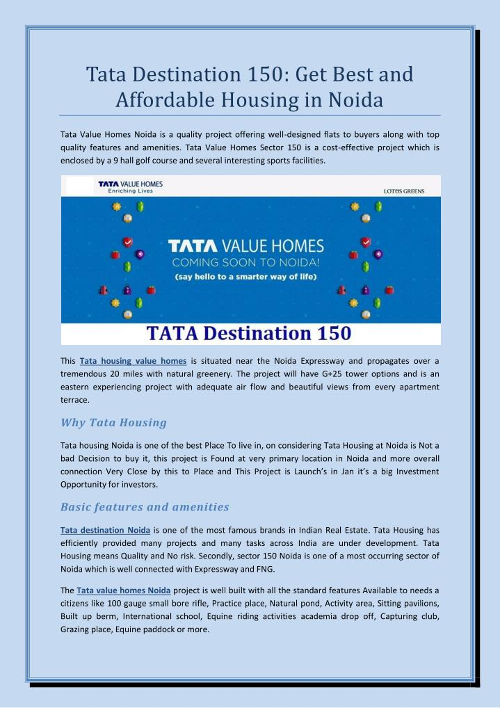 Tata Destination 150: Get Best and