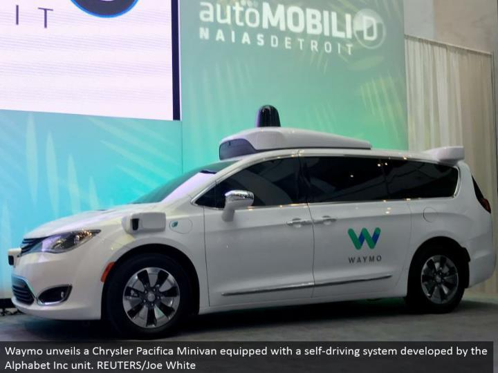 Waymo reveals a Chrysler Pacifica Minivan furnished with a self-driving framework created by the Alphabet Inc unit. REUTERS/Joe White