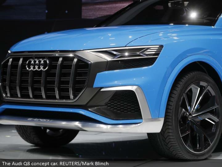 The Audi Q8 idea auto. REUTERS/Mark Blinch