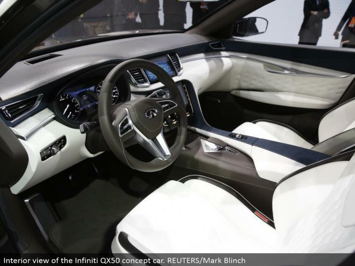 Interior perspective of the Infiniti QX50 idea auto. REUTERS/Mark Blinch
