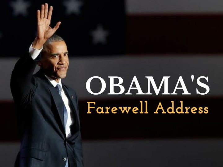 Obama s goodbye address