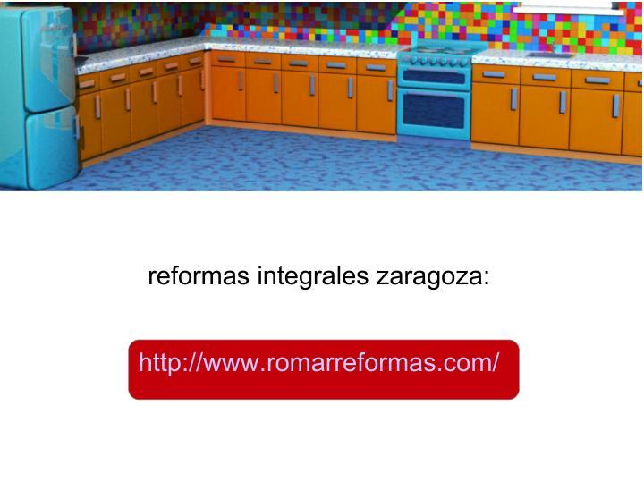 reformas integrales zaragoza: