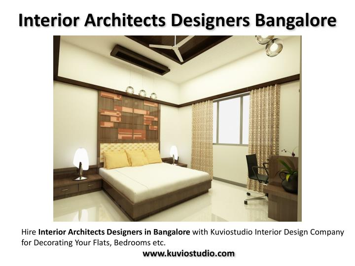 Ppt best interior design firm in bangalore kuviostudio Interior design architecture firms