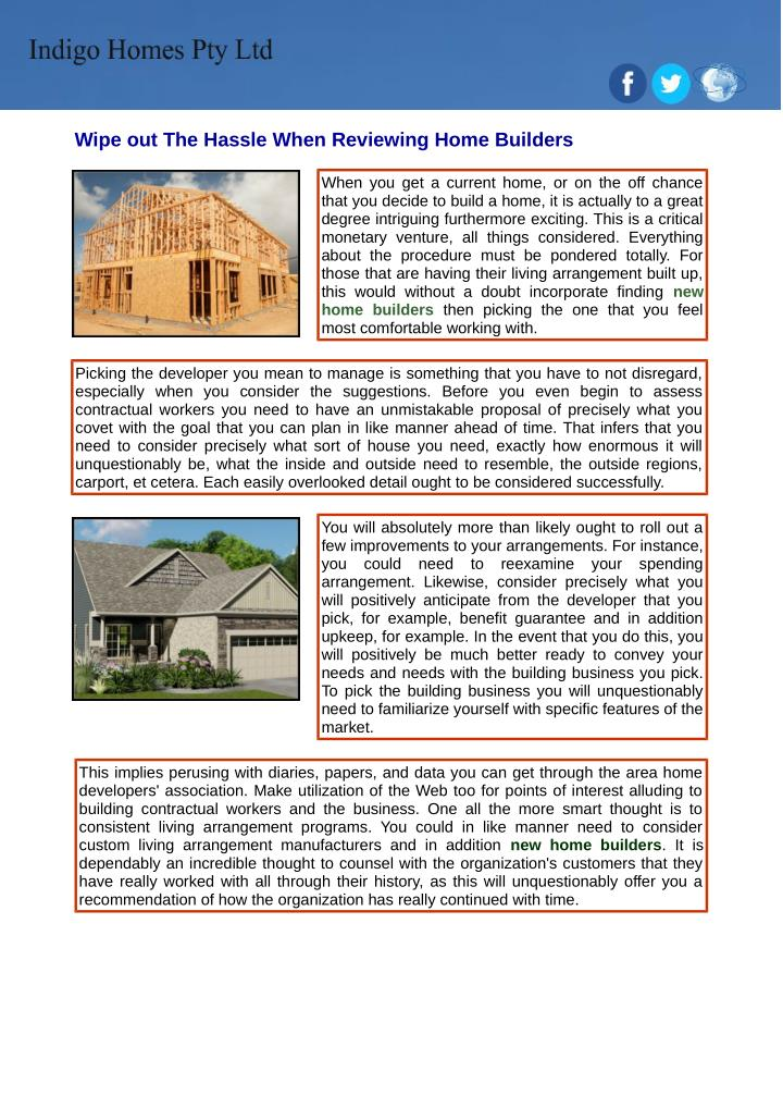 Ppt find a new home builders in your local area for Find a builder in your area