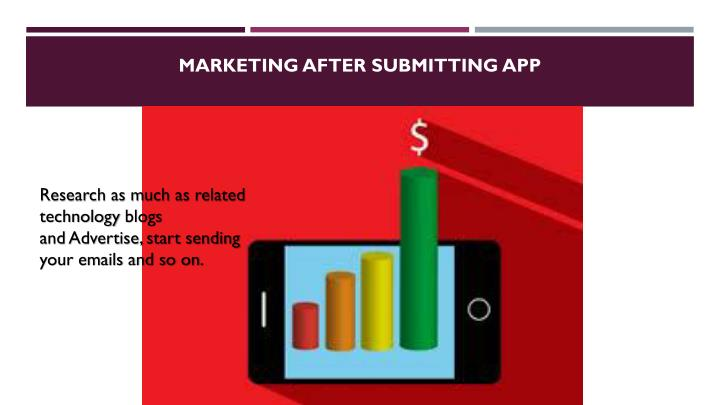 Marketing After Submitting App