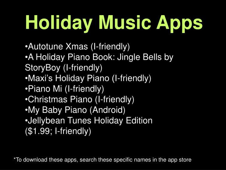 Holiday Music Apps