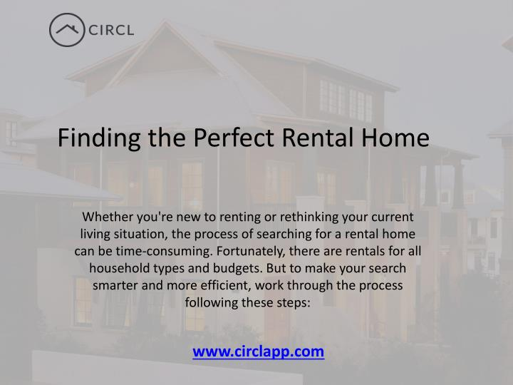 Ppt finding the perfect rental home in toronto for Find the perfect home