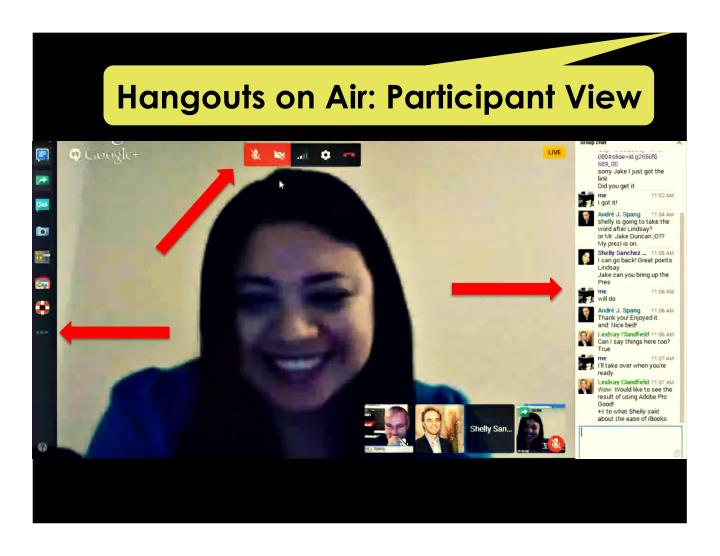 Hangouts on Air: Participant View