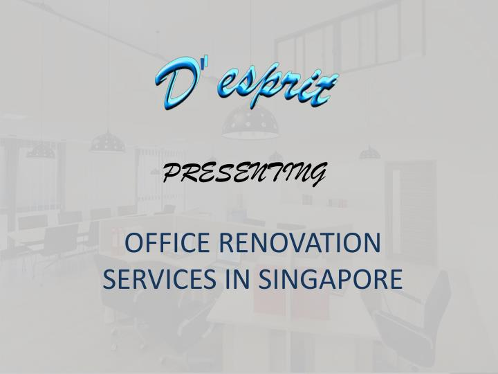 Office renovation services in singapore