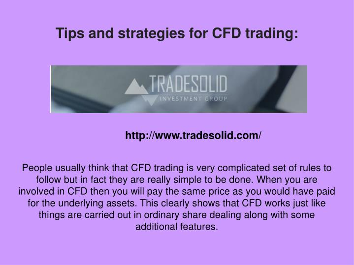 Successful cfd trading strategies