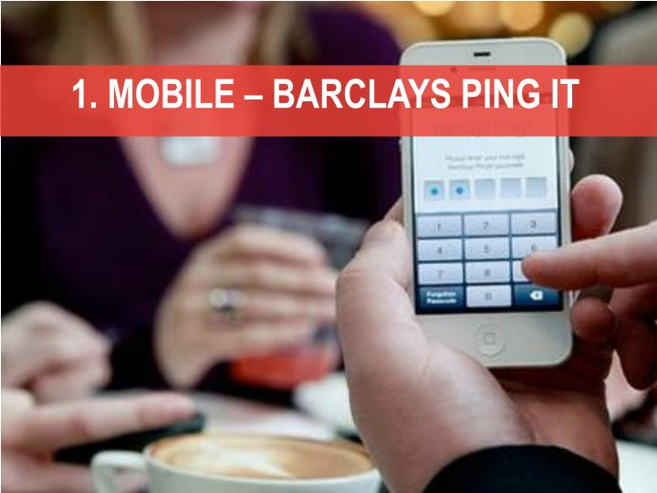 1. MOBILE – BARCLAYS PING IT
