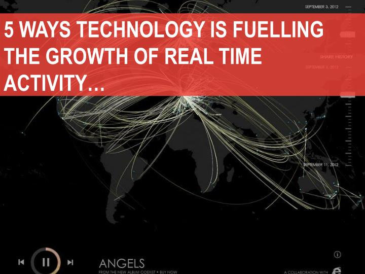 5 WAYS TECHNOLOGY IS FUELLING THE GROWTH OF REAL TIME ACTIVITY…