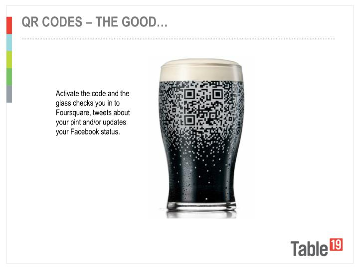 QR codes – the good…