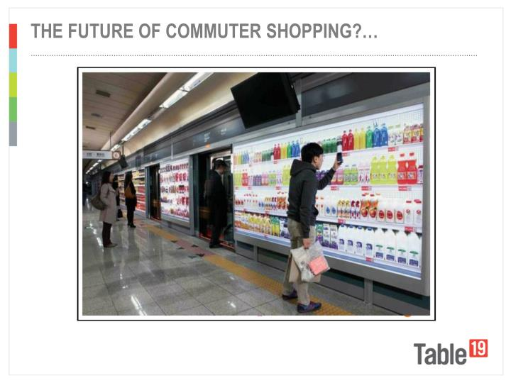 The future of Commuter shopping?…