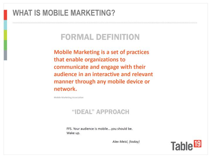 What is mobile marketing