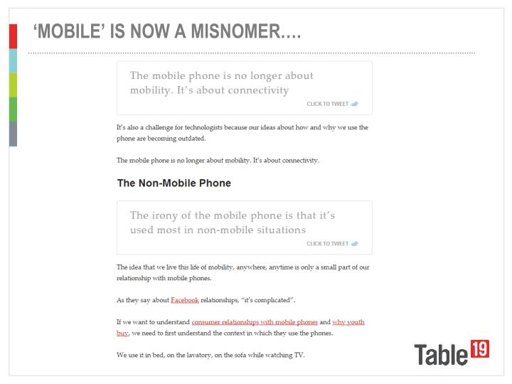 'MOBILE' IS NOW A MISNOMER….