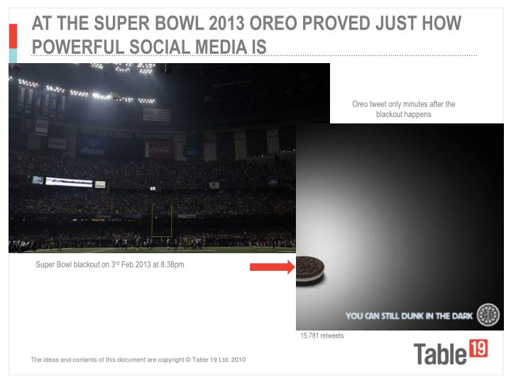 AT THE SUPER BOWL 2013 OREO PROVED JUST HOW POWERFUL SOCIAL MEDIA IS
