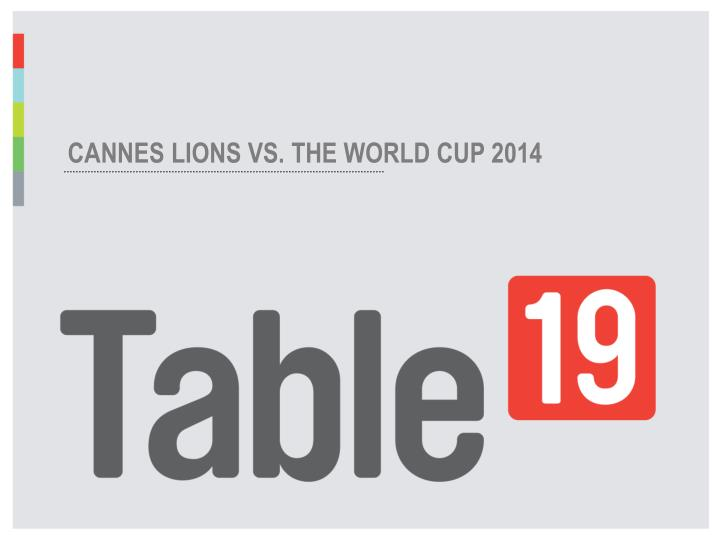 CANNES LIONS VS. THE WORLD CUP 2014