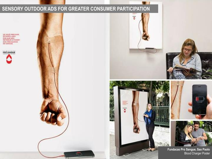 SENSORY OUTDOOR ADS FOR GREATER CONSUMER PARTICIPATION