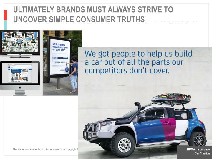 ULTIMATELY BRANDS MUST ALWAYS STRIVE TO UNCOVER SIMPLE consumer TRUTHS