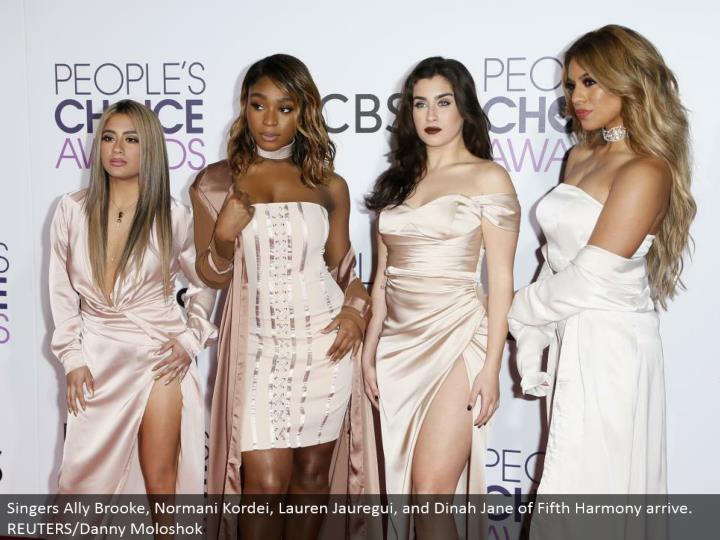 Singers Ally Brooke, Normani Kordei, Lauren Jauregui, and Dinah Jane of Fifth Harmony arrive. REUTERS/Danny Moloshok