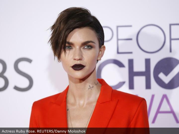 Actress Ruby Rose. REUTERS/Danny Moloshok