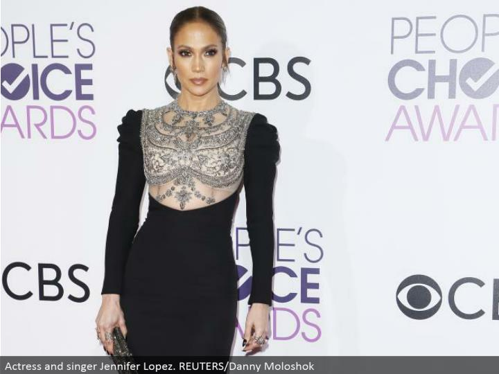 Actress and artist Jennifer Lopez. REUTERS/Danny Moloshok